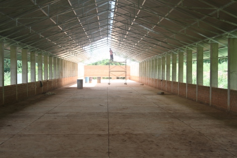 The chicken barn at Buloba will soon house more than 7,000 chickens that will produce 5-6,000 eggs a day.