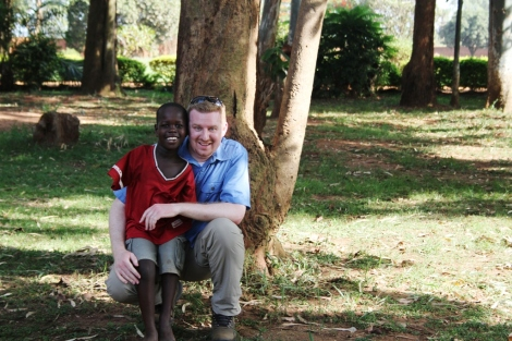 Innocent and I take a moment for one last phot. This little orphan changed my life.