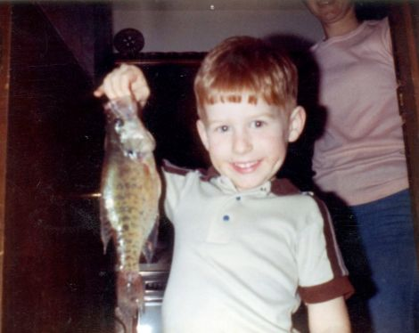 This is a picture of my first fish.