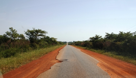 The road to Gulu narrows.
