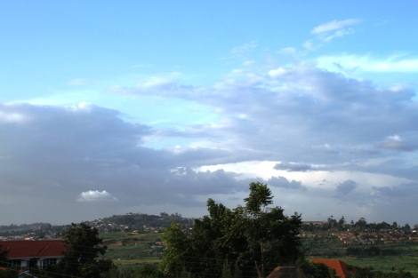 No travel, no farm visits, no big adventures on Day 8 - just one view from my window in Kampala. I'm sick, but that's OK. It was still a great day.