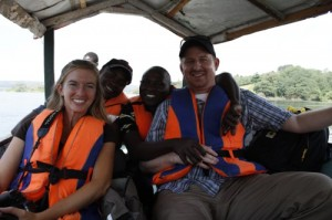 From left, Lianna, Derrick, Joe and myself enjoying our boat tour of the Nile River.